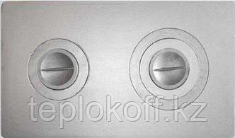 Плита чугунная П-2-3 с конфорками 710*410*15мм Балезино