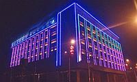 Освещение зданий, фасадов зданий светодиодной лентой, фото 2