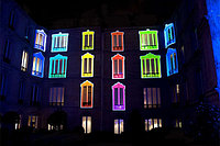 Освещение зданий, фасадов зданий светодиодной лентой, фото 5