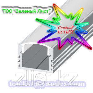 LED светодиодный профиль ЛП 12 Профиль алюминиевый, анодированный, цвет - серебро