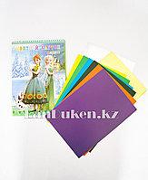 Набор цветной картон 8 листов CSZ-8-90 Анна и Эльза (Холодное сердце)