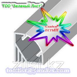 Профиль, профиля для светодиодных лент  ЛПУ 17 Профиль алюминиевый, анодированный, цвет - серебро