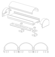 Профиля для светодиодных лент,  светодиодные профиля ЛСС Профиля алюминиевые, анодированные, цвет - серебро, фото 7