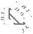 Led светодиодный профиль ЛСУ Профиль лед алюминиевый, анодированный, цвет - серебро, фото 5