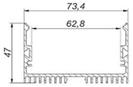 Светодиодный профиль ЛС 70 Профиль алюминиевый, анодированный, цвет - серебро, фото 4