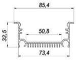 LED Светодиодный профиль ЛСВ 70 Профиль алюминиевый, анодированный, цвет - серебро, фото 4