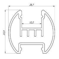 Светодиодный профиль ЛСК Профиль алюминиевый, анодированный, цвет - серебро, фото 4