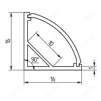 LED-профиль угловой УП2 , фото 6
