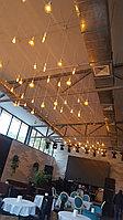 Подсветка помещений лампами Эдисона, оформление лампами Эдисона, оформление кафе, ресторанов, потолков, фото 2