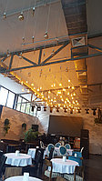 Подсветка помещений лампами Эдисона, оформление лампами Эдисона, оформление кафе, ресторанов, потолков, фото 3