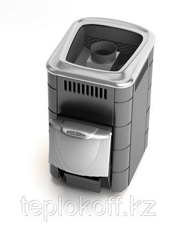 Печь для бани ТМФ Компакт 2013 Inox нерж.дверца короткий топливный канал антрацит