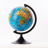Глобус зоогеографический детский, «Классик», диаметр 210 мм