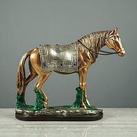 """Сувенир """"Конь"""", золото-серебро, стразы, фото 1"""