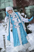 "Новогодний Костюм ""Снегурочка Боярыня"". Голубенькая шуба"