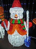 Световые фигуры «Снеговик» алматы(120см на 100см)
