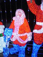 Световые фигуры «Дед мороз» алматы (210см на 130см)