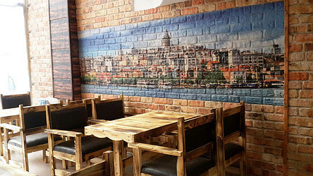 Стеновые панели для кафе с печатью картин, фото 2