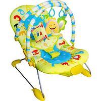 Детский шезлонг LA-DI-DA АЛФАВИТ, 3 положения спинки, (с 2-мя дугами для игрушек), 51х80х60 см