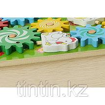 Деревянная развивающая игрушка — Шестеренки, фото 3