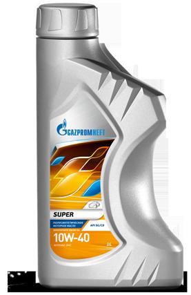 Масло моторное Газпром Super 10W-40 полусинтетическое канистра 1л.
