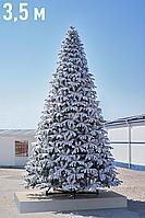 """Высотная интерьерная новогодняя ёлка со снегом """"Сибирь Платинум"""" - 3,5 метра, фото 1"""