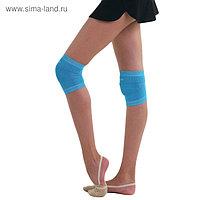 Наколенник гимнастический, размер S, цвет голубой
