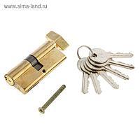 Цилиндровый механизм AL 70 РB, английский ключ, с вертушкой, цвет латунь
