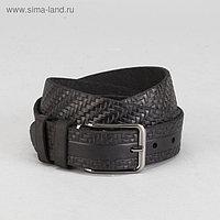 Ремень мужской, винт, пряжка под металл, ширина - 3,5см, цвет чёрный