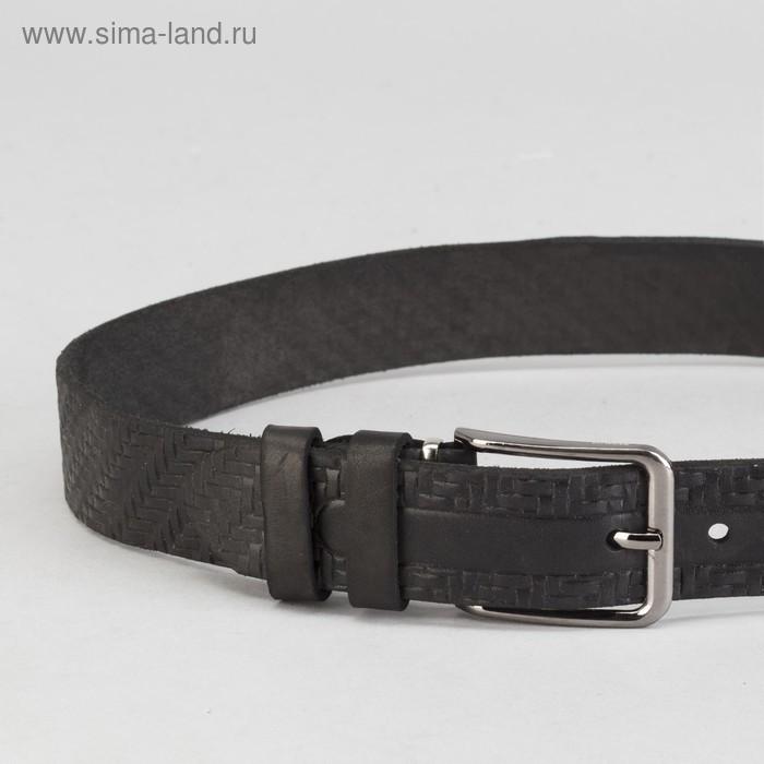 Ремень мужской, винт, пряжка под металл, ширина - 3,5см, цвет чёрный - фото 2