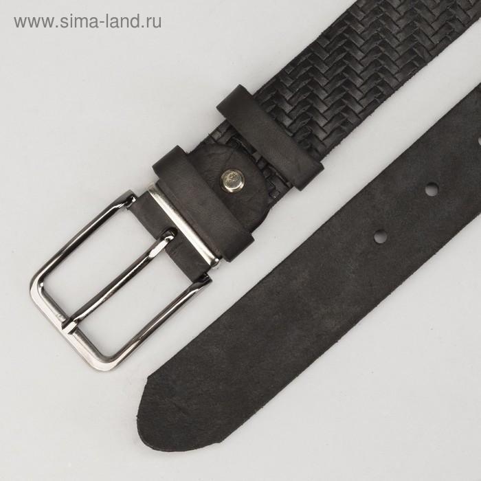 Ремень мужской, винт, пряжка под металл, ширина - 3,5см, цвет чёрный - фото 3