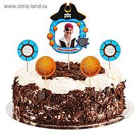 """Топперы в торт """"Пиратский День Рождения"""" с фоторамкой"""