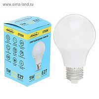 Лампа светодиодная Luazon Е27, 5 Вт, 2700 К AL радиатор