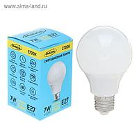 Лампа светодиодная Luazon Е27, 7 Вт, 2700 К AL радиатор