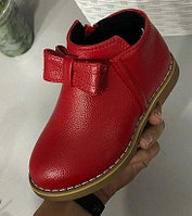 Ботинки для девочки красные с бантом размеры 21-25