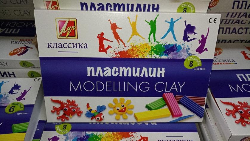 """Пластилин """"Луч"""" - Классика. 8 цветов., фото 2"""