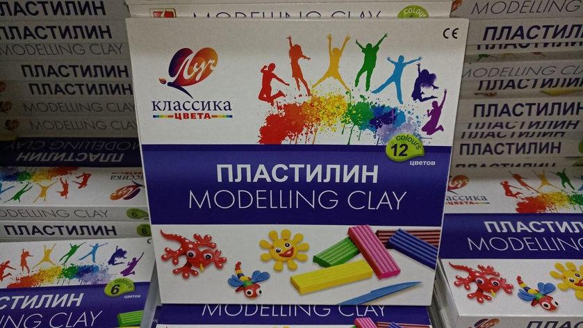 """Пластилин """"Луч"""" - Классик. 12 цветов., фото 2"""