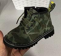 Ботинки (тимбы) хаки унисекс размеры 21-25
