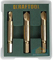 Набор экстракторов KRAFTOOL для выкручивания крепежа с износом граней шлица до 95%