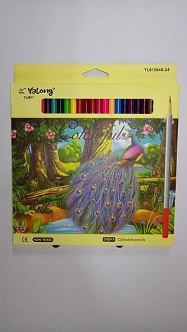 """Карандаши цветные """"Yalong"""". 24 цветов., фото 2"""