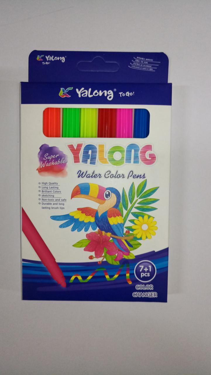 "Фломастеры ""Yalong"" 8 цвета."