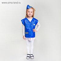 """Карнавальный костюм """"Стюардесса"""", жилетка, пилотка, 4-6 лет, рост 110-122 см"""