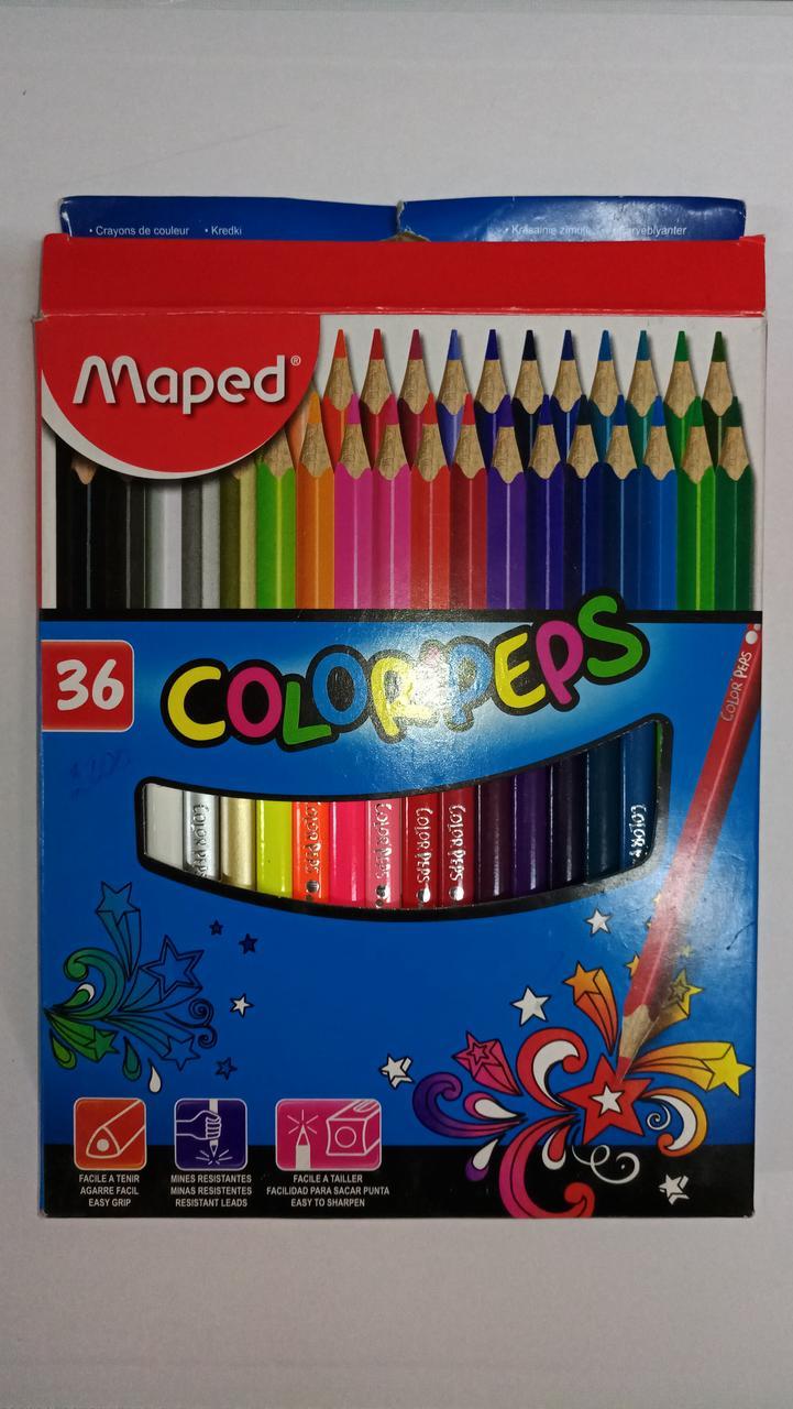 """Карандаши цветные """"Maped"""". 36 цветов."""