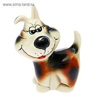 "Статуэтка ""Собака Хитрюга"", глазурь, 10 x 7 x 14 см, микс"