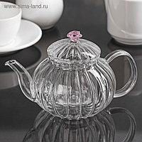 """Чайник заварочный 600 мл """"Диана с розой"""""""
