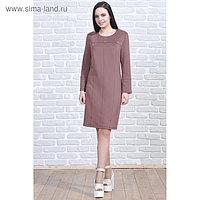 Платье женское 5569 цвет коричневый, р-р 46