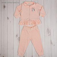 Комплект для девочки (джемпер, брюки), рост 80 см (48), цвет розовый