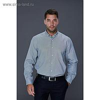 Рубашка мужская, цвет серый, размер 50, об.шеи 40