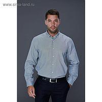 Рубашка мужская, цвет серый, размер 52, об.шеи 42