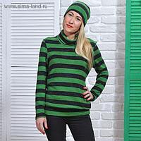 Свитер женский, цвет зелёный, размер 52, рост 164 см