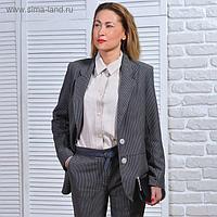 Жакет женский 5649 цвет серый, р-р 50, рост 164 см